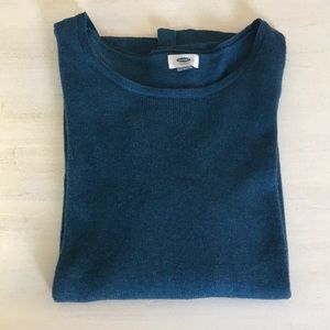 Old Navy teal green blue sweater